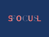 Typography Concept for Book Cover (Soul Focus)