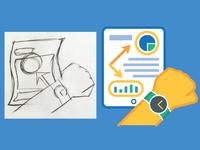 Save Time Icon Process Sketch