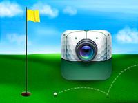 Coach's Eye golf icon (Masters Tournament edition) hat golf landscape lens
