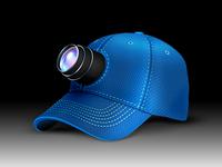 Coach's Eye hat angled shot icon hat lens logo