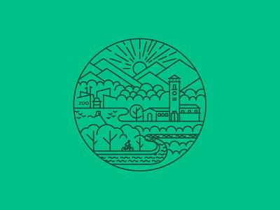 Parks & Recreation boise is beautiful city of trees sticker outside green boise