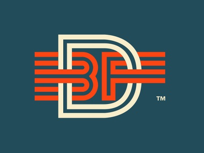 BDF boise design factory thicklines simple letters type orange dont google this acronyms