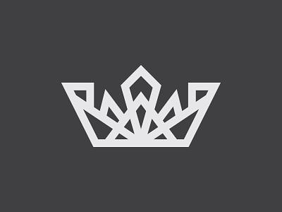 Sigil Crown black white crown pointy thicklines simple grid geometery