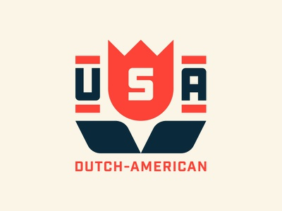 Dutch-American idaho merica dutch geometry flat simple tulip