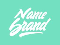 Name Brand Lettering