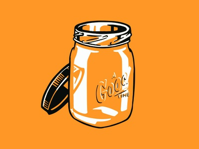 Goodtimes illustration handdrawn mason jar mason glass flat