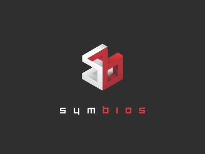 Logo Concept logo symbios red white concept infinite box shadow