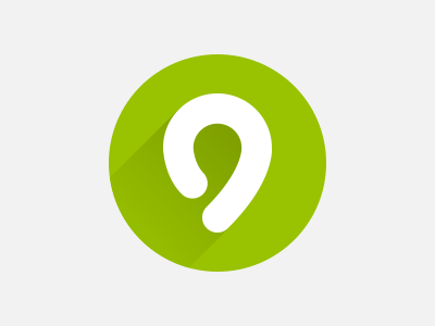 Flat quo flat design drop shadow bamboo green location pin gradient startup