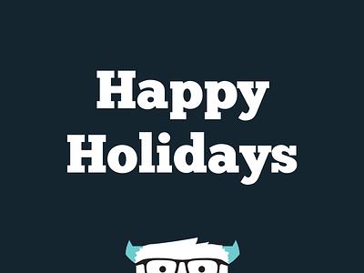 Yeti yeti seasons greetings happy holidays merry christmas winter furry geek glasses
