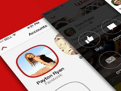 Widdle App Ui app widdle ui screenshot iphone ios dashboard stream social network interaction menu