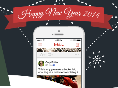 New Year's Email header happy holidays new years 2014 email marketing header flat illustration app iphone ios7