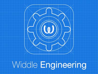 Widdle Engineering widdle blueprint engineer app icon logo ios7