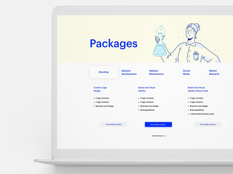 Kaii Lab Agency Packages website web ux typography ui minimal clean design
