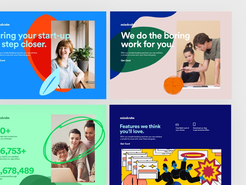 mindcube | Website Pages clean ui designs startup webdesign landing page landingpage website concept website design landing website app web illustration branding ui typography minimal concept clean design