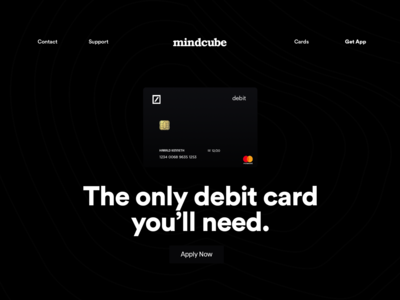 mindcube | debit card uidesigner uxdesign uiuxdesign uidesign uiux websitedesign webdesign website app web ux typography ui minimal concept clean design