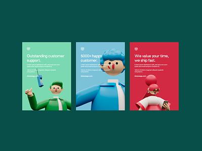 Posters Concept poster design uiuxdesigner uidesigner uiux 3d design 3d brand website illustration branding ux ui minimal concept clean design