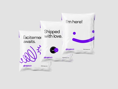 Dreevo | Shipping Parcels ecommerce design ecommerce shipping company shipping vector flat brand logo illustration branding typography minimal clean design