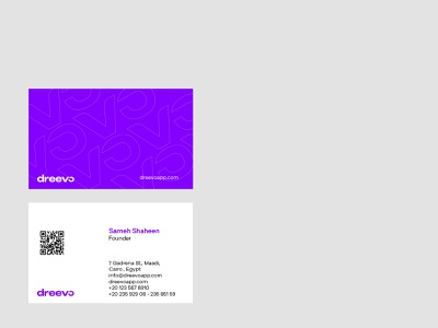 Dreevo | Business cards cairo egypt ship businesscard brand identity visual design business card icon flat vector brand web illustration branding minimal clean design