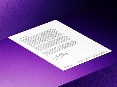 Dreevo | Letterhead letterhead design letterhead logo branding typography minimal clean design