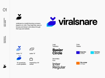 Viral Snare   Final logo brand identity branding design photoshop illustrator vector logo app website brand illustration branding typography minimal clean design