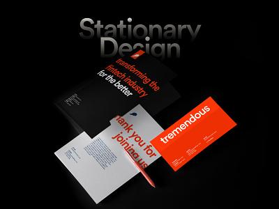 tremendous   Stationery Design brand designer brand design brand identity branding logo design branding logo design logo typography minimal clean design