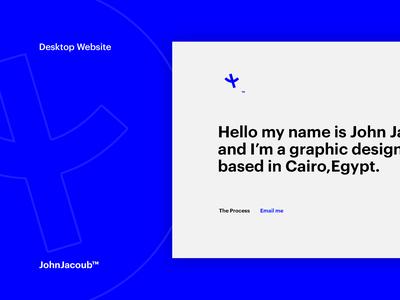 Personal Website - Desktop Version
