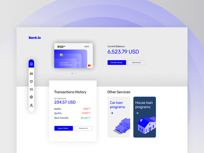 Financial Dashboard Concept
