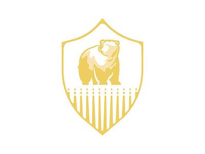 Bear Security Logo shield logo gold bear