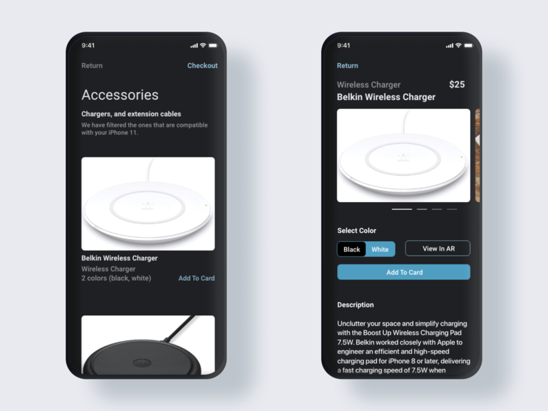 Project Clementine, an Online Accessory Store ux ui design app