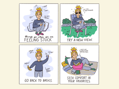 Feeling Stuck storytelling typography selfie ipad pro procreate life comic real life illustration comic art comic