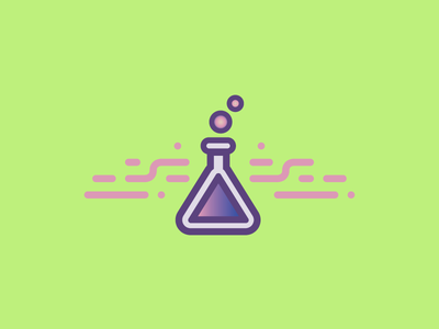 Love Potion warmup gradient witchy potion icon vector