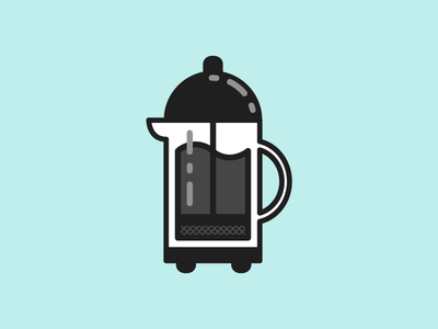 French Press object doodle but first wip sketchbook illustration vector coffee