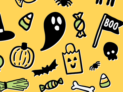 H-Town candy vector halloween illustration pattern