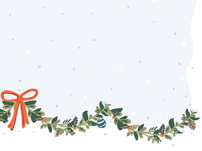 Winter Wonderland garland illustration vector snow winter holiday