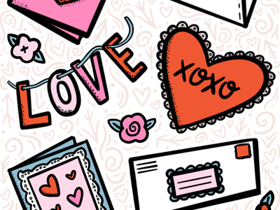 Snail Mail Love holiday ipad pro procreate illustration drawing valentines day