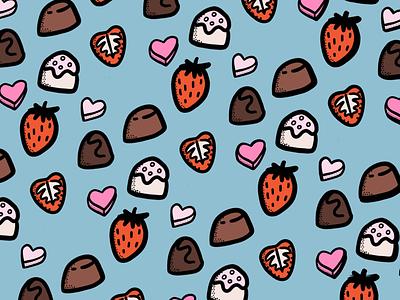 Something Sweet pattern design food ipad pro procreate illustration valentines day