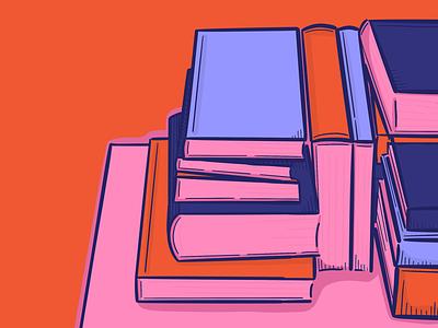 Cottage Still #1 procreate app ipad pro illustration still life books