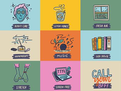 Relaxation colorful design pro create ipad pro icon artwork icon design icons