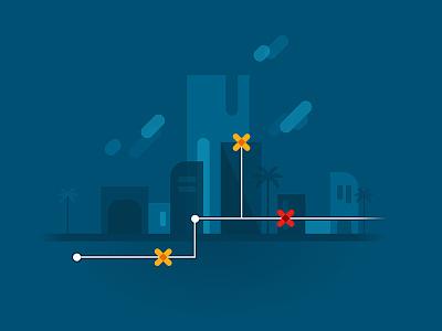 netWORK city network blue vector illustrator illustration