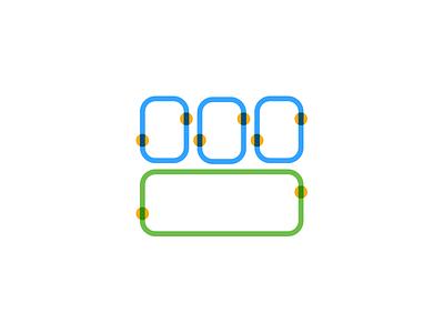 ◻️ modular lineart linecon line icon vector illustrator illustration