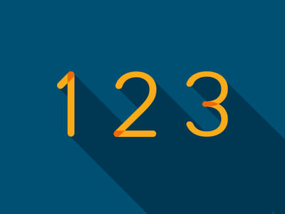 123.png shadow dropshadow vector illustration typography type numbers