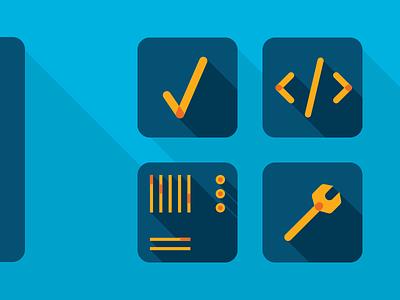 ~ illustrator illustration vector blue technical tech dropshadow shadow software icon