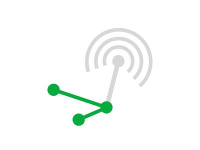 analyze wave analyze signal wifi illustrator illustration line graph points svg vector icon