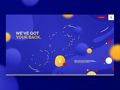 🔵 (s)crap-3 design orbs blue indigo illustration illustrative graphic website web landing ui
