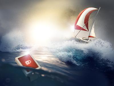 malware.exe design image photography landing graphics graphic hero security photomanipulation photoshop sailing