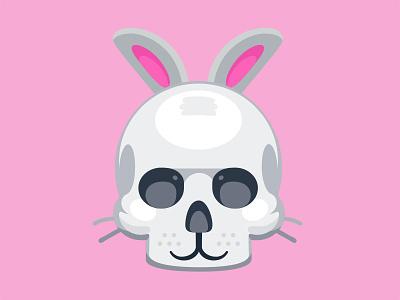 🐰vs 💀 vector skull rabbit facebook emoji death bunny