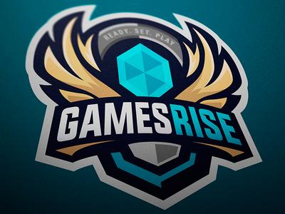 Games Rise sport logo sports logo mascot logo logotype logo esports branding