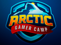 Arctic Gamer Camp Mascot Logo