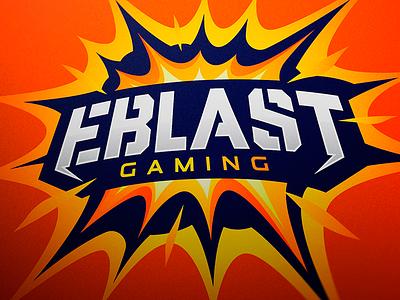 Eblast Gaming Logo Design sports logo mascot logo logotype logo esports branding