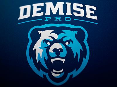 Demise Pro Mascot Logo Design jellybrush illustrator diseño graphic vector designer mascotlogo e-sports design sports logo mascot logo esports mascot branding logotype logo